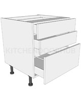 Low Level 3 Drawer Base Unit
