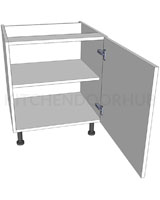 Low Level Kitchen Base Unit - Single