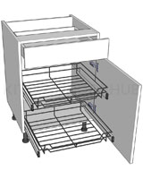 Kitchen Base Unit for Pull-out Storage - Drawerline