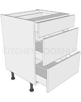 3 Drawer Base Unit