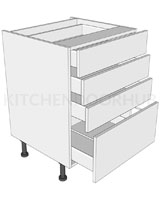 4 Drawer Pan Base Unit