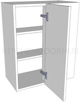 Variable Corner Kitchen Wall Units - Medium