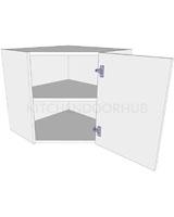 Diagonal Corner Kitchen Wall Unit - Low