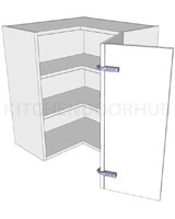Corner Kitchen Wall Unit 'L' Shape Medium