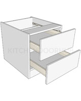 Bedside Cabinets 2 Drawer - Low