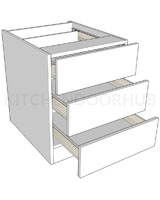 Bedside Cabinets 3 Drawer - Medium