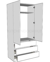 Double Combination Wardrobe - Linen Press