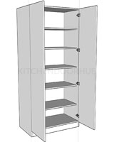 Double Wardrobe Shelf Units
