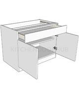 Standard Height Double Drawerline Unit - Wide Drawer