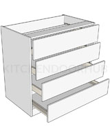 Bedroom Tallboy Units 980mm High