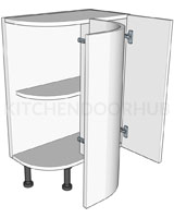 Curved Kitchen Base Unit - 560mm Deep