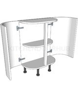 D Shaped Curved Kitchen Base Unit