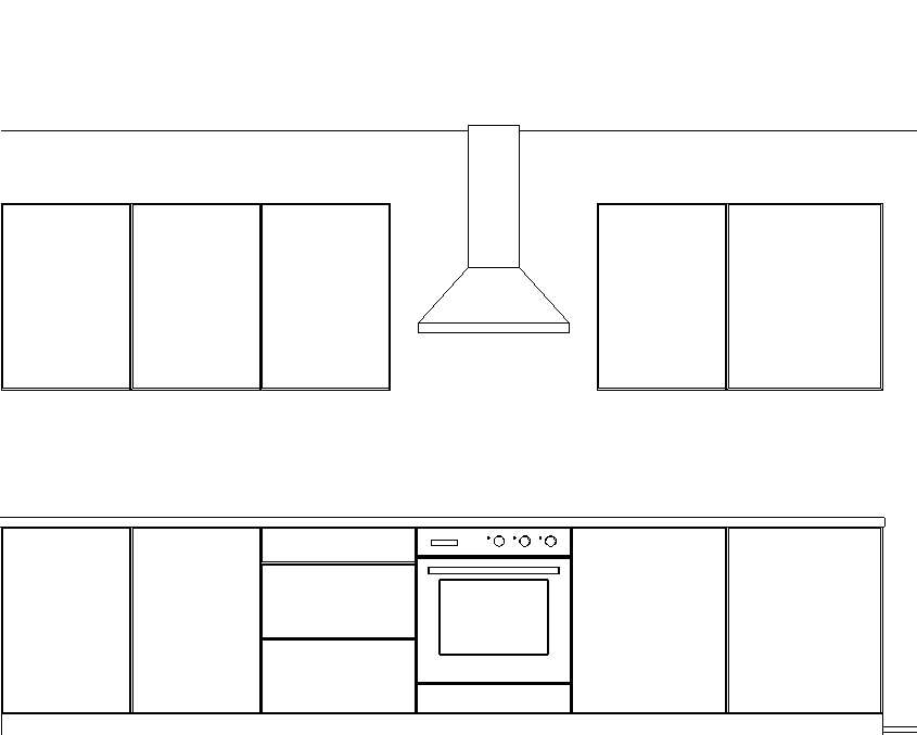 Elevation Drawing Of Kitchen Units