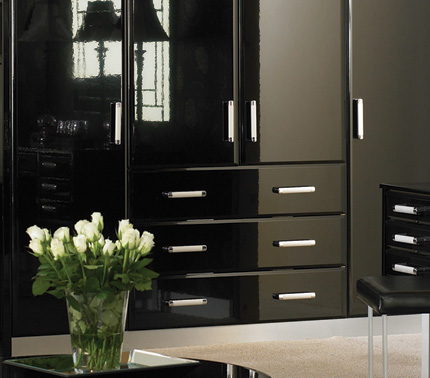 Black bedroom doors