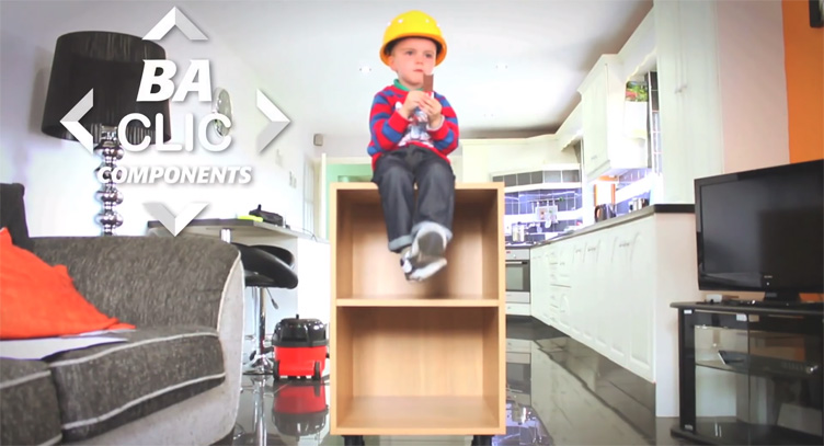Assembling clicbox kitchen units is child's play