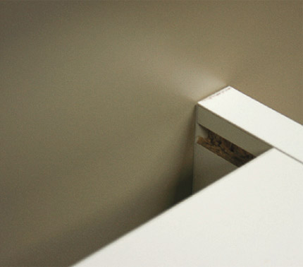 Base Cabinets are 570mm deep with 49mm void. Internal depth 513mm