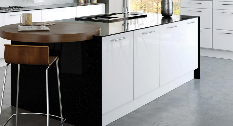 Slab style kitchen doors