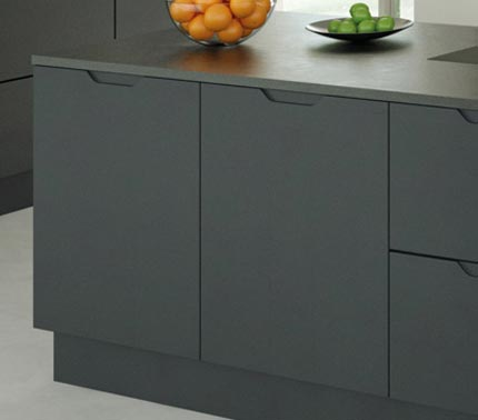 Grey kitchen doors