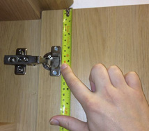 Measuring kitchen and bedroom doors for hinges