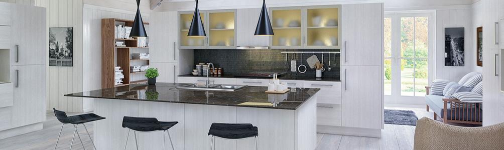 Venice Open grain white kitchen