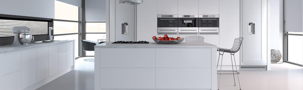 Porcelain white kitchen