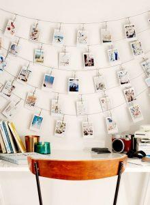 DIY photos on string