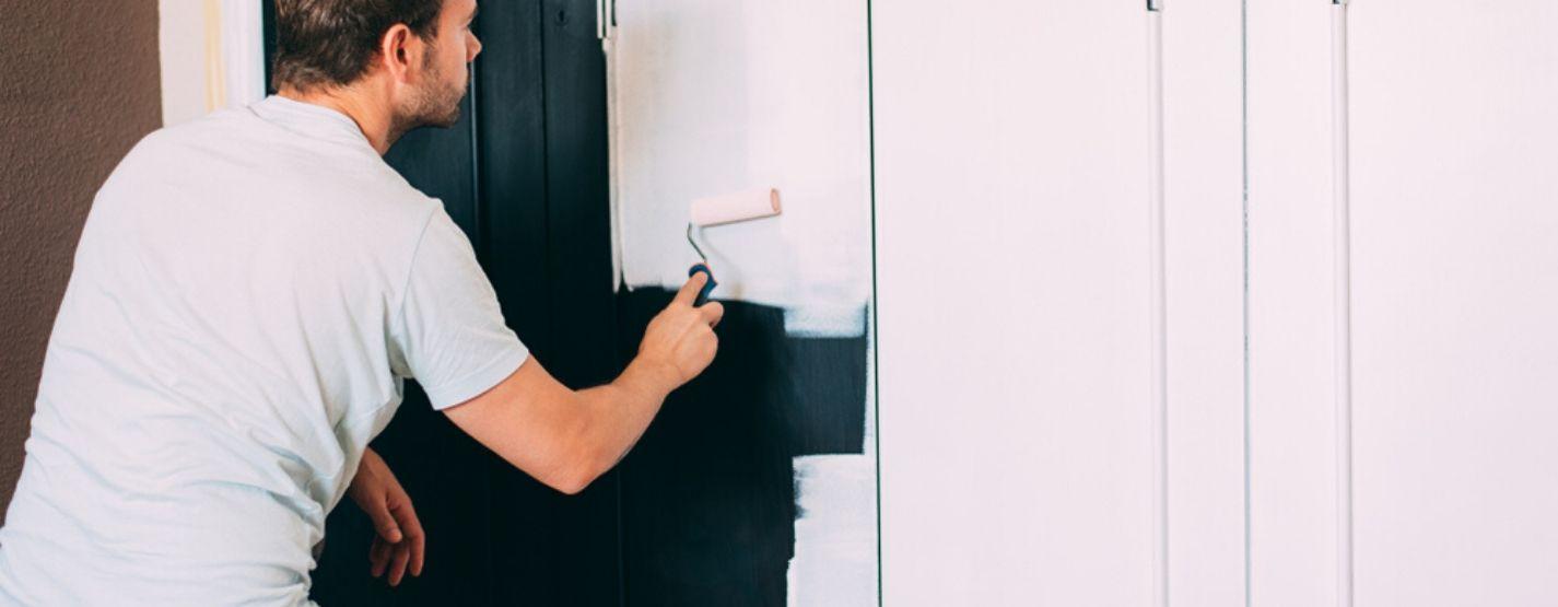 Repainting wardrobe doors